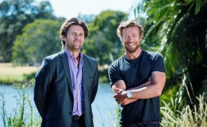 SYDNEY, AUSTRALIA - DECEMBER 06:  Tropfest founder John Polsonon and Actor Simon Baker on December 6, 2015 in Sydney, Australia. Tropfest 2015 was cancelled three weeks before the event due to funding issues.  (Photo by Christopher Pearce/Getty Images)