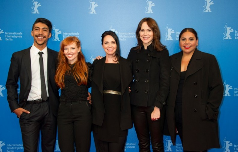 Hunter Page-Lochard, Stef Dawson, Tasma Walton, Frances O'Connor and Deborah Mailman at the World Premiere of Cleverman, Berlinale