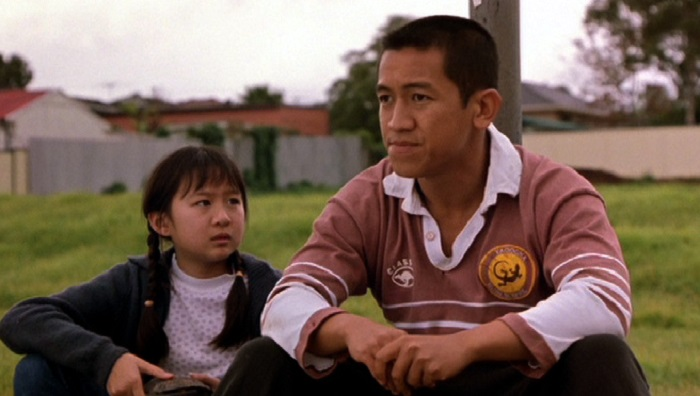 Anh Do with Lisa Saggers in Footy Legends