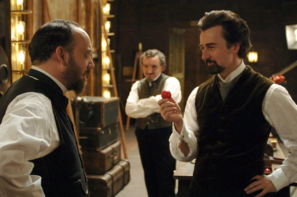 Paul Giamatti, Eddie Marsan and Edward Norton in The Illusionist
