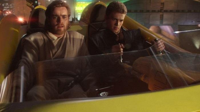 Ewan McGregor and Hayden Christensen in Star Wars: Episode II