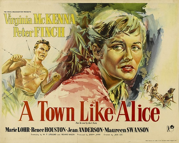 A one-sheet for the 1956 film adaptation of A Town Like Alice