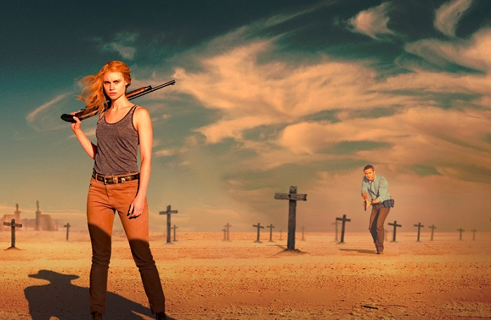 Lucy Fry and Dustin Clare in Wolf Creek