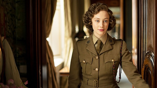 Sarah Gadon as a hard partying Lizzie in A Royal Night Out