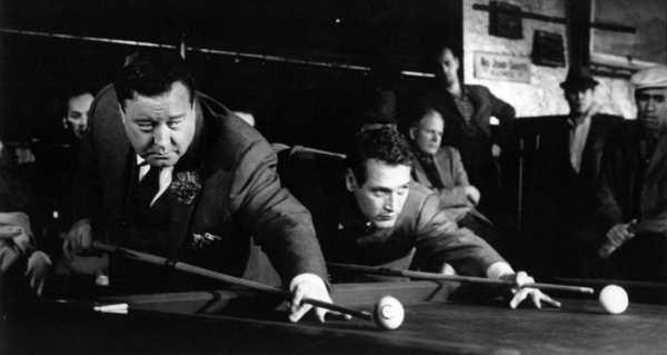 Jackie Gleason and Paul Newman in The Hustler