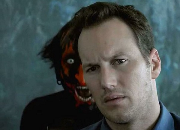 Joseph Bishara (left) with Patrick Wilson in Insidious