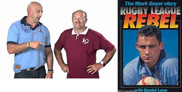 MG and Wally teamed up for the NRL 2011 Queensland Clubs Membership campaign; Geyer's classic tome, Rugby League Rebel