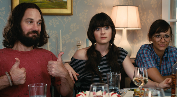 Paul Rudd, Zooey Deschanel and Rashida Jones in Our Idiot Brother