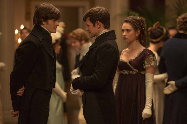 Sam Riley, Matt Smith and Lily James in Pride And Prejudice And Zombies
