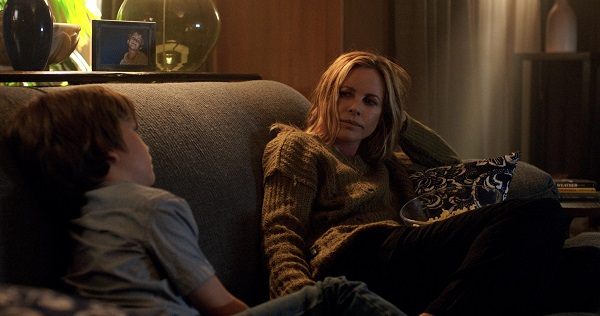 Gabriel Bateman and Maria Bello in Lights Out