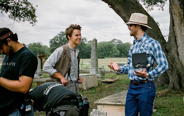 Rhys Wakefield and Kane Senes on the set of Echoes Of War