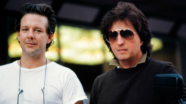 Michael Cimino and Mickey Rourke on the set of Year Of The Dragon