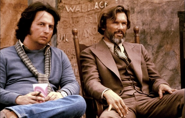 Michael Cimino and Kris Kristofferson on the set of Heaven's Gate