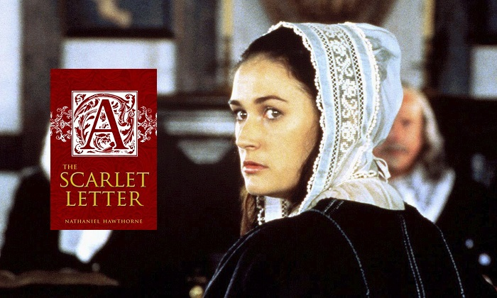 Scene from The Scarlet Letter, 1995, starring Demi Moore