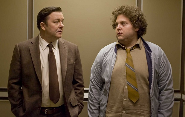 Ricky Gervais and Jonah Hill in The Invention Of Lying