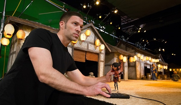 Travis Knight on the set of Kubo And The Two Strings