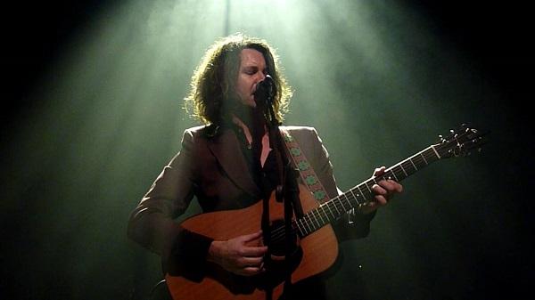 Bernard Fanning performing at the launch of Civil Dusk