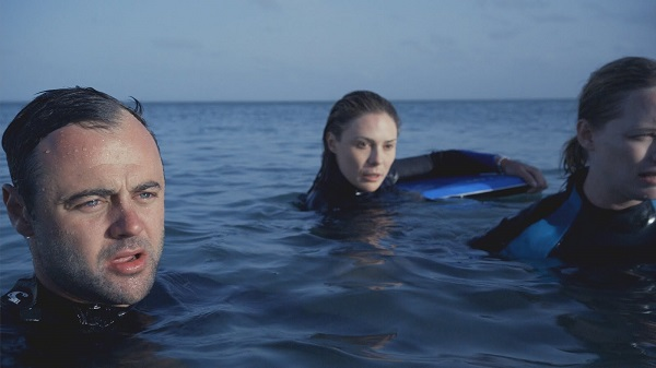 Gyton Grantley, Zoe Naylor and Adrienne Pickering in The Reef