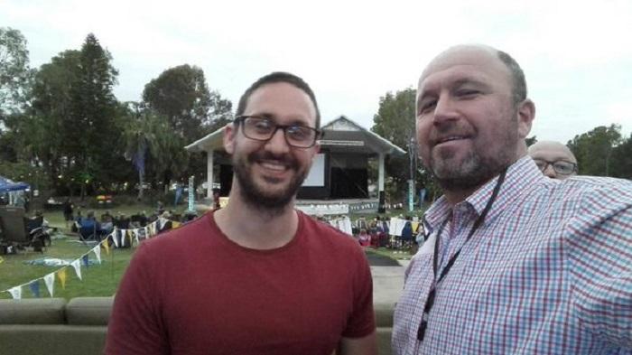 FilmInk publisher/founder, Dov Kornits (right) with Capricorn Film Festival founder, Luke Graham