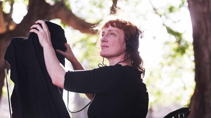Jennifer Kent on the set of The Babadook