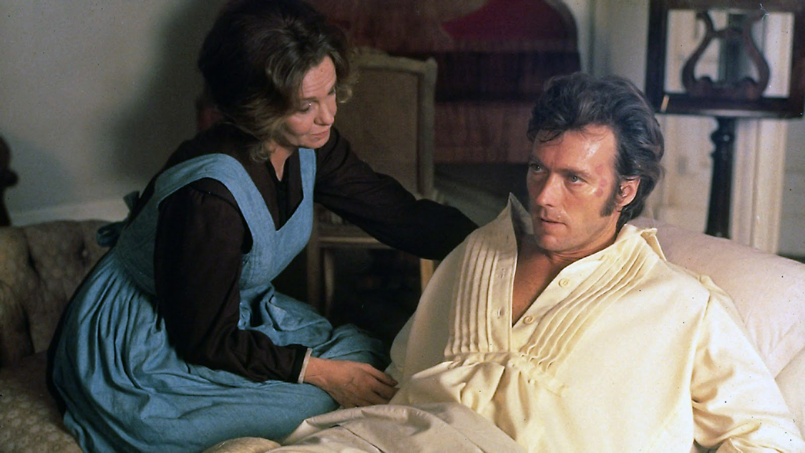 Geraldine Page and Clint Eastwood in 1971's The Beguiled