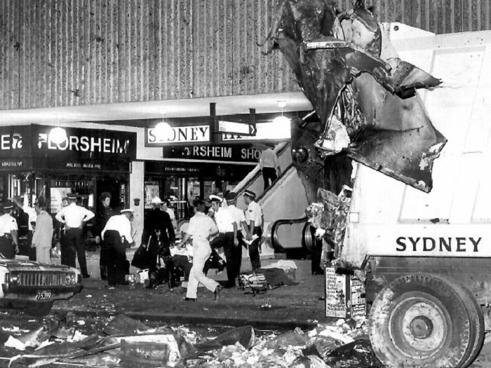 The carnage outside The Hilton in 1978