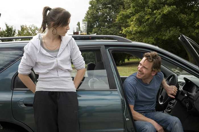 Katie Jarvis and Michael Fassbender in Andrea Arnold's Fish Tank