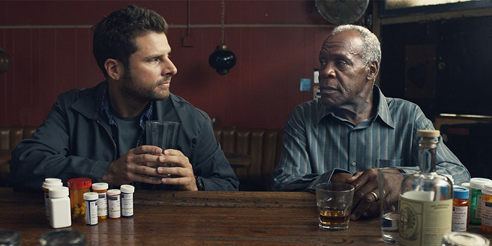 James Roday and Danny Glover in Pushing Dead