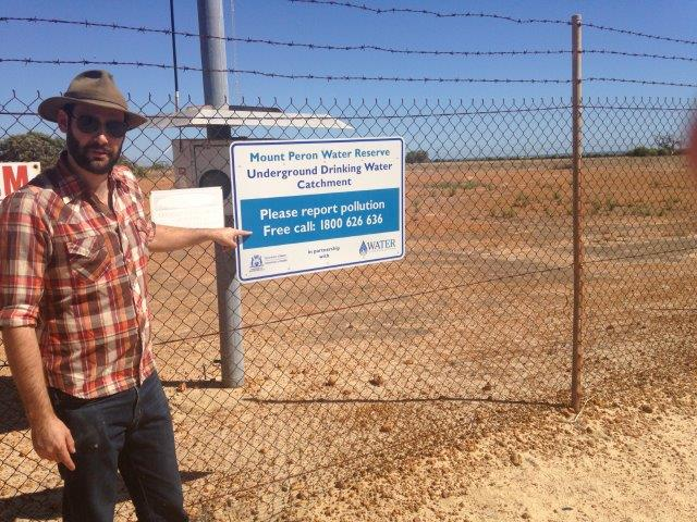 Green Head water supply - Mt Peron Borefield under threat from gas fracking well (Drover 1) within a few kilometres