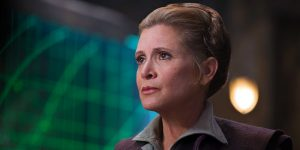 Carrie Fisher as Leia Organa in The Force Awakens