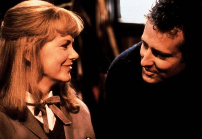 Nicole Kidman and John Duigan on the set of Flirting.