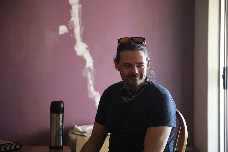 ben Young on the set of Hounds of Love