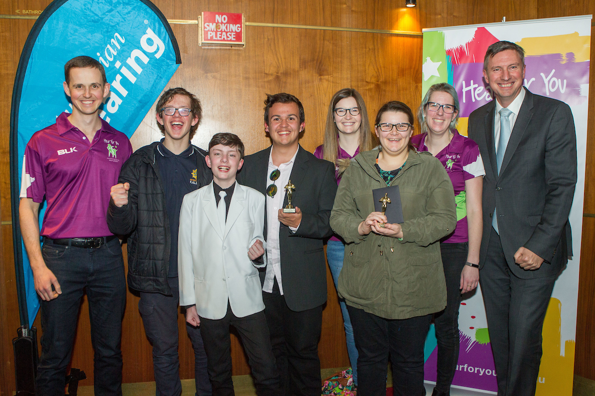 Photo - The winners of Australia's first film festival by deaf teenagers - the Hear For You Film Festival