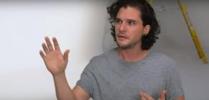 Check out this Audition Tape of Kit Harrington from 2010