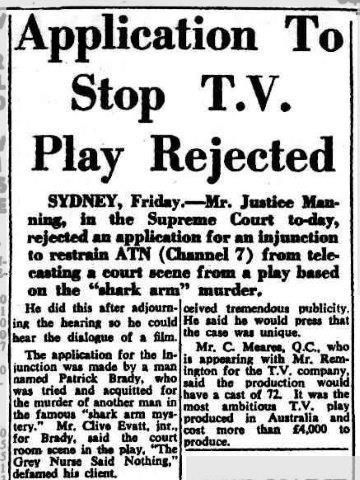 4840e8221 The Grey Nurse Said Nothing (1960) w Sumner Locke Elliott d David Cahill.  ATN-7. Shot in Sydney. Elliot s TV play