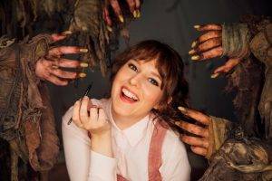Claudia O'Doherty Returns to Oz for Mock Beauty Vlog Set in the Future