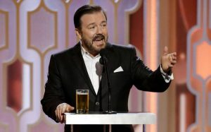 The Golden Globes 2020…Ricky Gervais Hits Hard