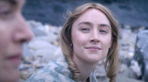 Saoirse Ronan Kisses Rose in <i>Ammonite</i>